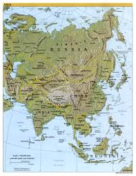 South Asia Physical Map by Reisenett Maps Of Asia