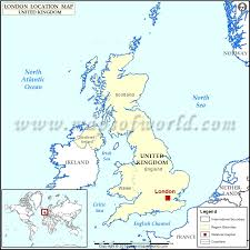 where is on the map where is location of in united kingdom map