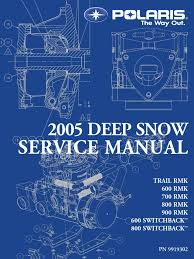2005 deep snow polaris 900 service manual ignition system clutch