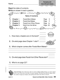 table of contents worksheet free worksheets library download and