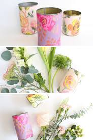 Flower Vase Crafts Recycled Can Flower Vase Diy Tinselbox