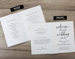 folded wedding program printable wedding program ksw exclusive invitations