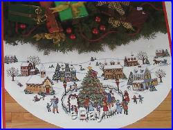 the counted cross stitch tree skirt kit vintage