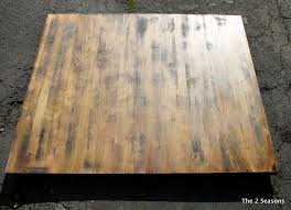 staining a table top staining a dining room table