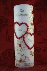 10 hochzeitstag rosenhochzeit de kerze rosenhochzeit roh 01 mit namen datum auch mit