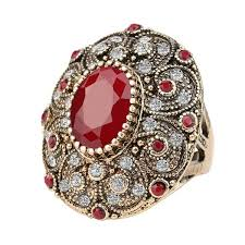 women big rings images Fashion vintage jewelry rings unique plated ancient gold mosaic jpg