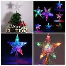 lighted christmas star tree topper beautiful clear snowflake