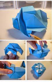 cara membuat origami bunga dari uang kertas cara membuat origami bunga mawar biru tutorial kerajinan tangan