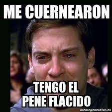 Meme Pene - meme crying peter parker me cuernearon tengo el pene flacido 2877265