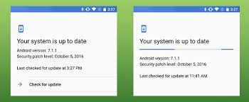 check android version play services update restores the check for updates
