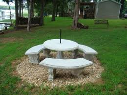 round cement picnic tables other products