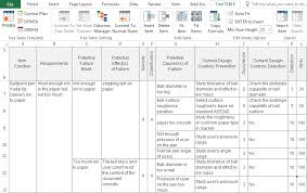 Fmea Template Excel Treetable Add In The Best Fmea Add In For Excel