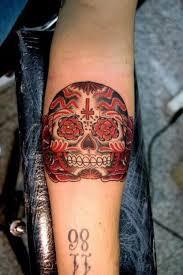 Forearm Skull - 51 sugar skull tattoos amazing ideas