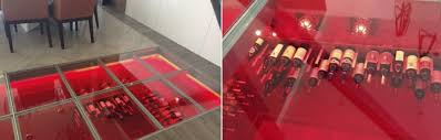 glass floor glass enclosed wine cellars u2013 stact wine racks