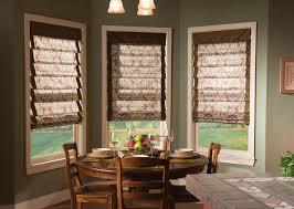 bow window decorating ideas bay window roman shades windows