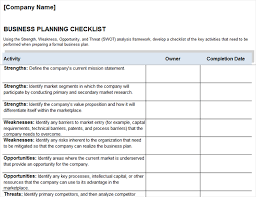 business plan checklist office templates