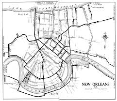 New Orleans On A Map by Arizona City Maps At Americanroads Com
