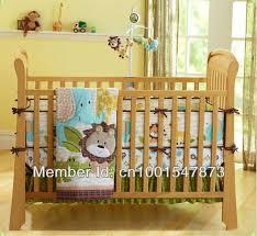 free shipping jungle mosaic 4 pcs baby crib bedding set quilt