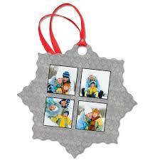 snowflake ornament aluminum custom photo ornament mailpix