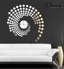 wandtattoo designer wanduhr design wohnzimmer ruhbaz