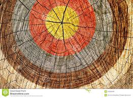 target on tree royalty free stock photos image 25029648