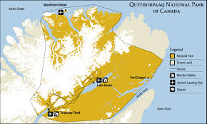 Canada National Parks Map by Quttinirpaaq National Park Map Hazen Camp Canada U2022 Mappery