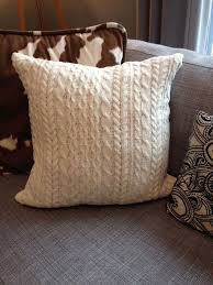 Upcycled Pillows - cozy sweater pillow hometalk