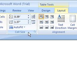 Table Cell Spacing How To Adjust Column And Row Size In A Word 2007 Table Dummies