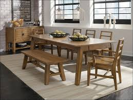 dining bench seat rustic dining room with exposed wooden bench