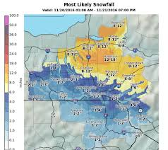 Syracuse Ny Map 7 15 Inches Of Snow Possible In Central Ny Lake Effect Snow Watch