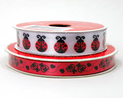 ladybug ribbon and black ladybug ribbon white ribbon with bugs