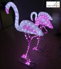 Lowes Outdoor Christmas Decorations Garden Decor Pink Flamingo