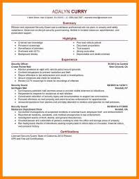 Security Officer Resume Security Supervisor Resume Security Guard Resumes 10 Free Word