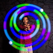 Light Up Balls On String by Orbits Orbital Light Shows And Poi Dream Rave