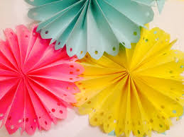diy decorated paper fan backdrop wedding party decorations easy quick you