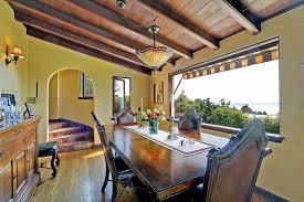 Mediterranean Dining Room Furniture Mediterranean Dining Room With Exposed Beam By Debbie Jungquist