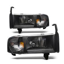 02 dodge ram headlights 01 dodge ram 1500 black housing headlights