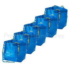 Ikea Discontinued Items List 5 X Ikea Brattby Small Blue Storage Bags 27x27cm Mini Frakta