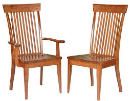 distressed pecan wood mission dining chair set of 2 enchanting