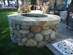 fire pit backyard tahoe cobblestone fire pit cottage garden landscaping