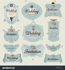 vintage label wedding invitation stock vector 130107041 shutterstock
