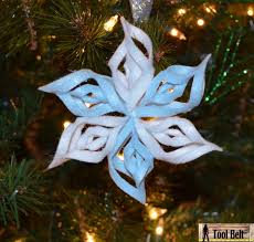 8th day of christmas 3 d felt snowflake ornament her tool belt