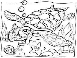 Sea Animals Coloring Page Coloring Pages Ocean Animals Vitlt Com Coloring Page Of