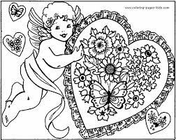 free printable valentine coloring book pages sheets and pictures