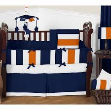 Orange Crib Bedding Navy Blue And Orange Crib Bedding Collection