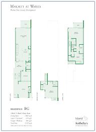 contemporary resort floor plan makalii at wailea new luxury development for sale