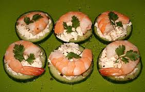 recette canape recette canapés de concombre chèvre et crevettes roses