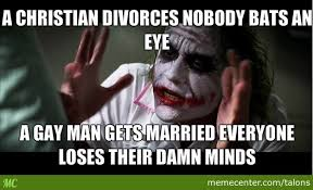 Funny Anti Christian Memes - how it feels when christians talk about gay marriage by talons