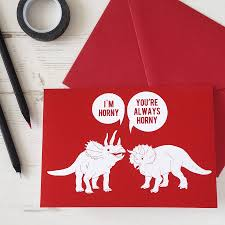 valentines cards dinosaurs rude valentines card by newton and the apple