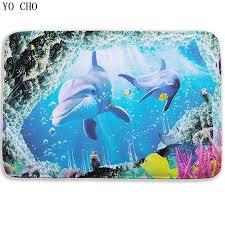 Fish Bath Rug Fish Dolphin Bathroom Carpet 3d Towel Bath Mat For Toilet Modern